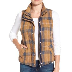 Dylan Washed Plaid Vest. Nordstrom's. Small